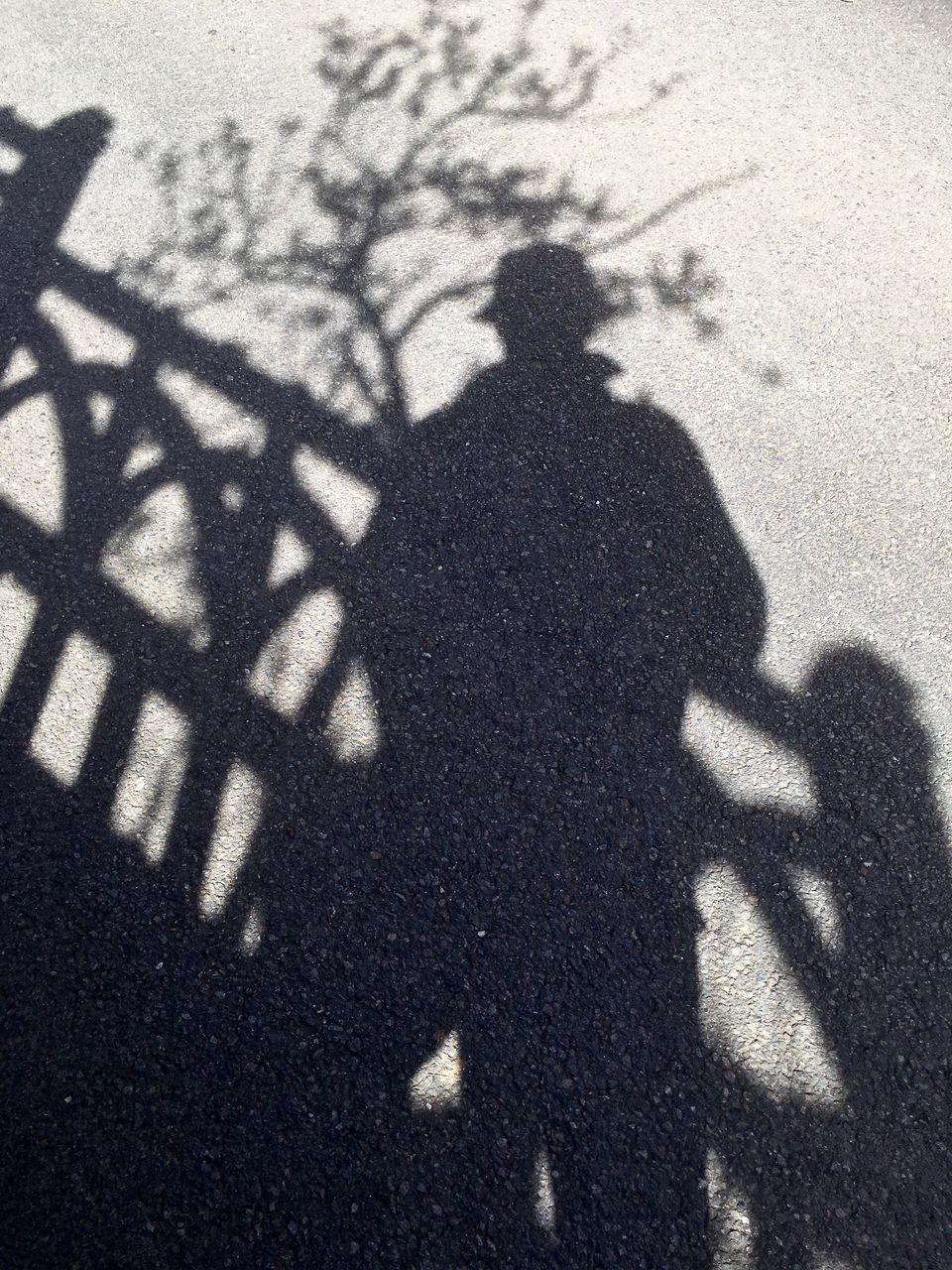 Shadow on road