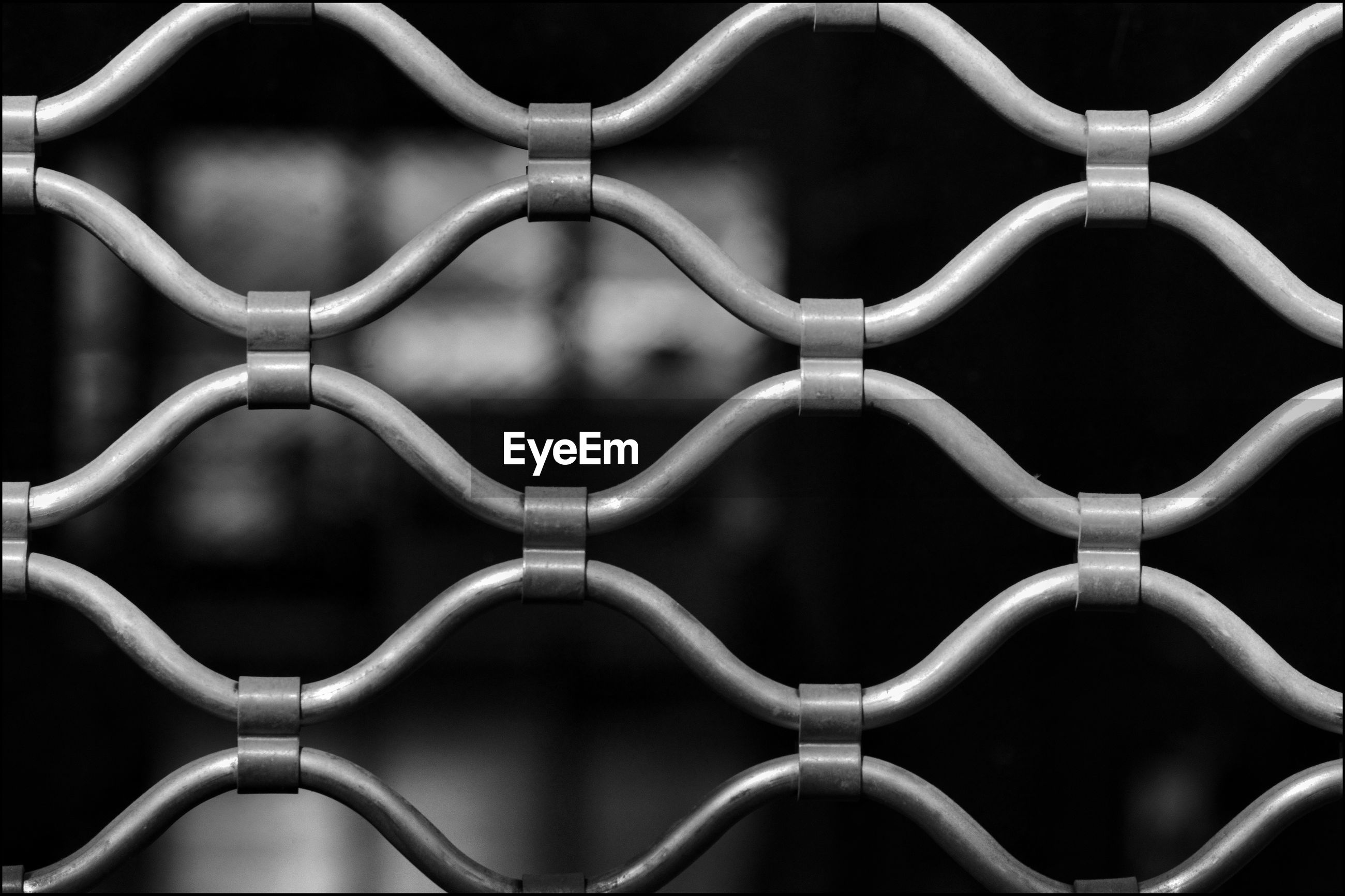 Close-up of metallic fence