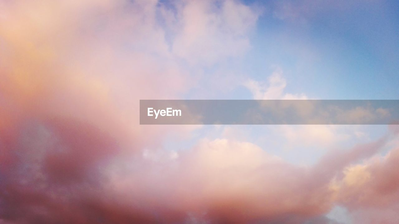 sky, nature, beauty in nature, cloud - sky, scenics, tranquility, low angle view, backgrounds, tranquil scene, outdoors, sky only, day, no people, full frame, sunset