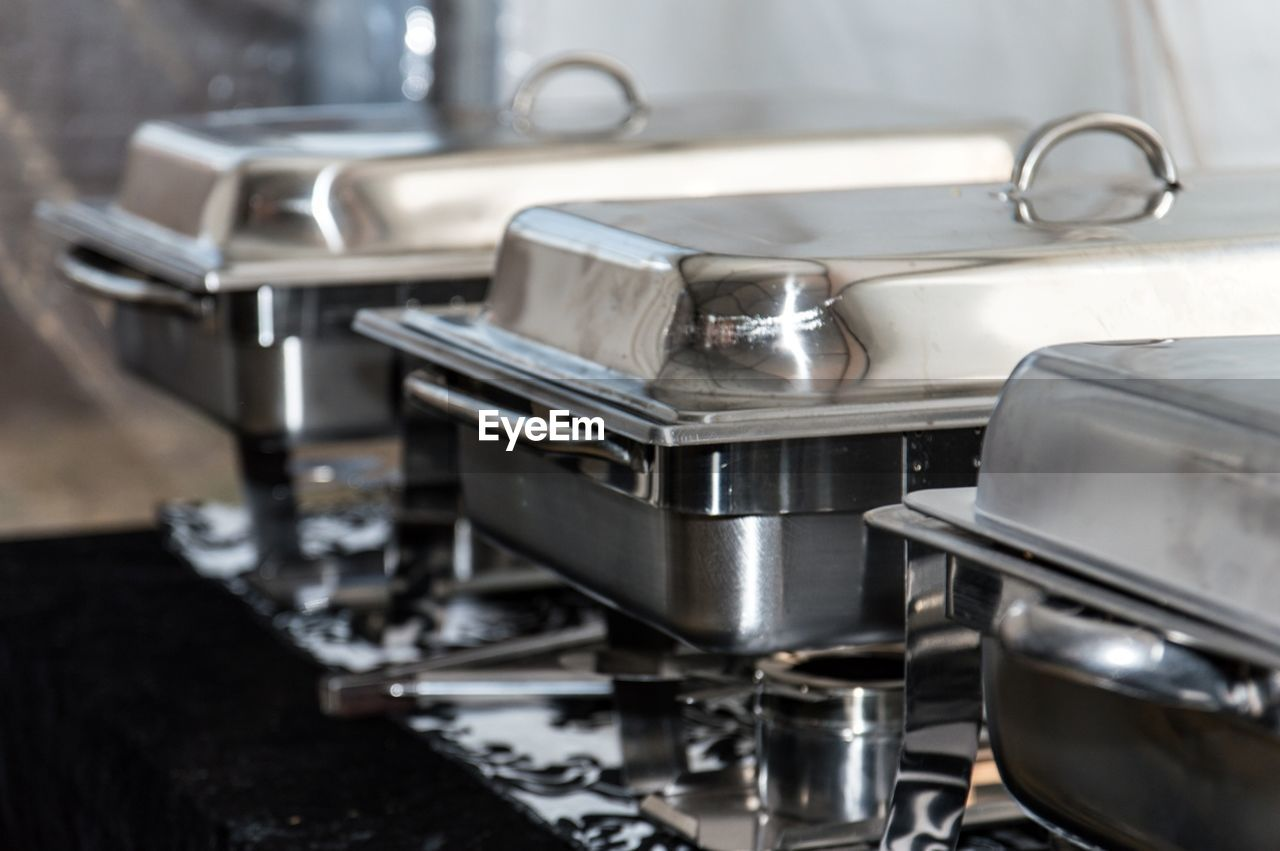 domestic kitchen, kitchen, stove, preparation, metal, indoors, espresso maker, no people, stainless steel, food and drink, appliance, close-up, burner - stove top, cooking utensil, commercial kitchen, domestic room, food, day