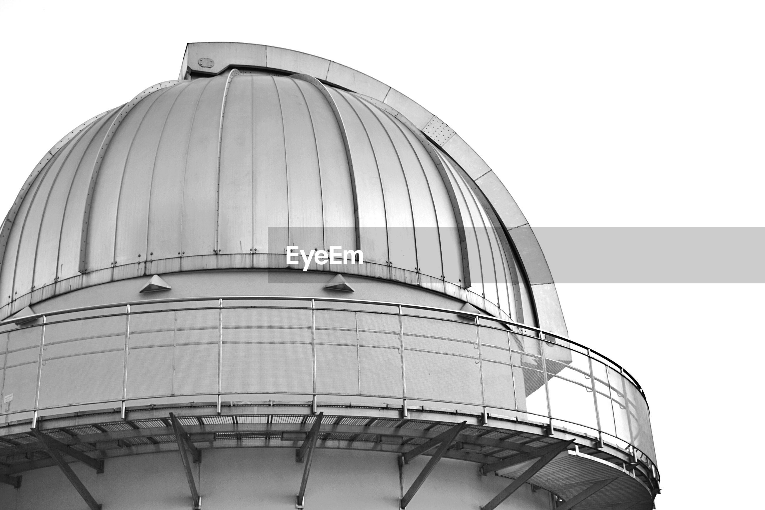 Cropped image of moscow planetarium against clear sky