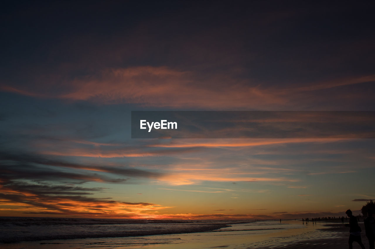 cloud - sky, sky, sunset, beauty in nature, scenics - nature, orange color, tranquility, tranquil scene, nature, water, sea, no people, outdoors, non-urban scene, idyllic, land, horizon, dramatic sky