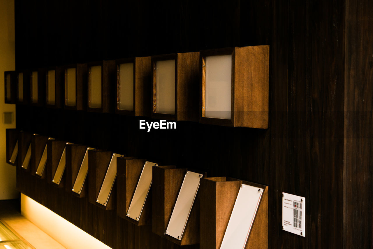 Wooden Shelves Arranged At Home