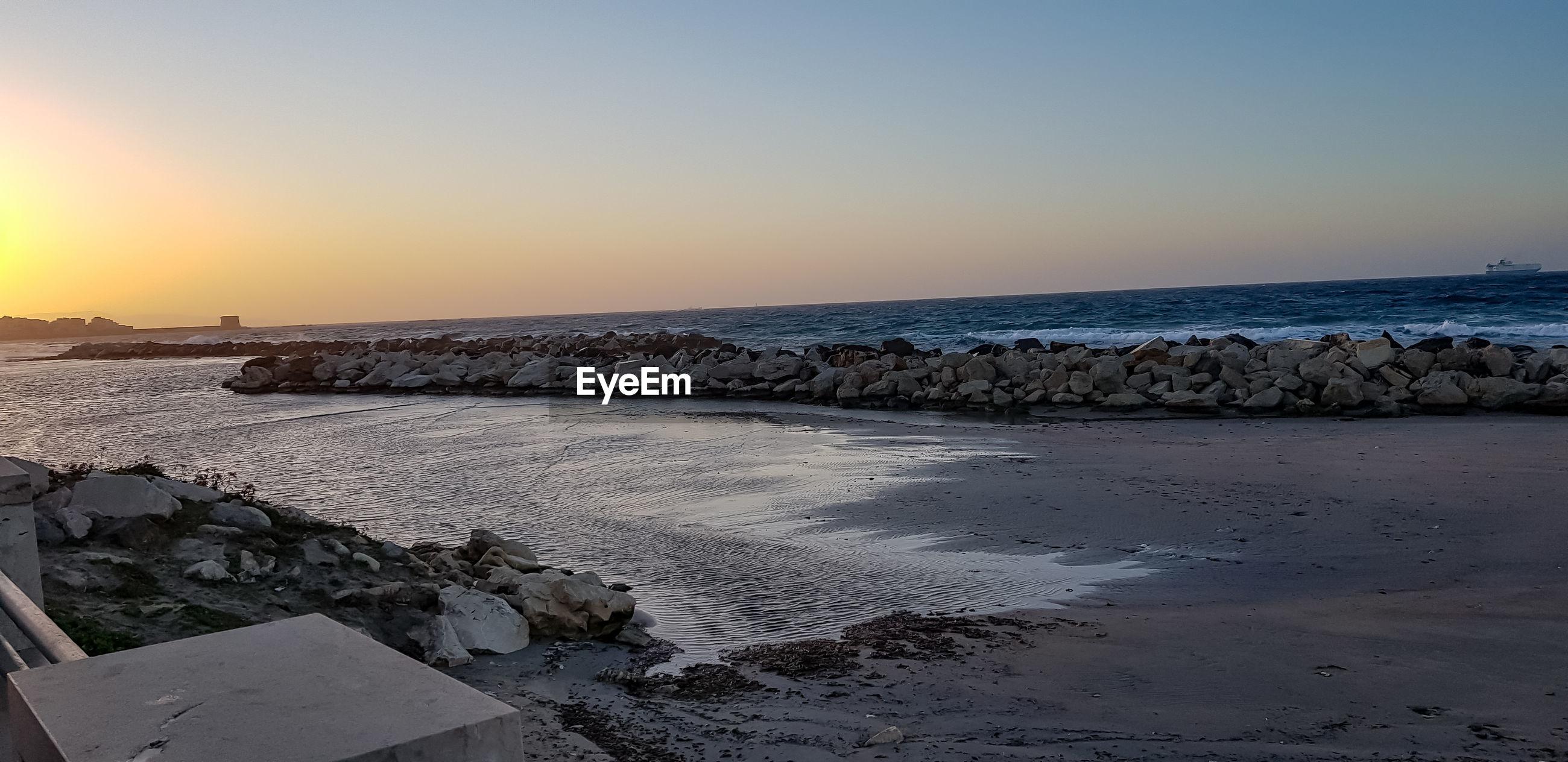 Horizon on the sea