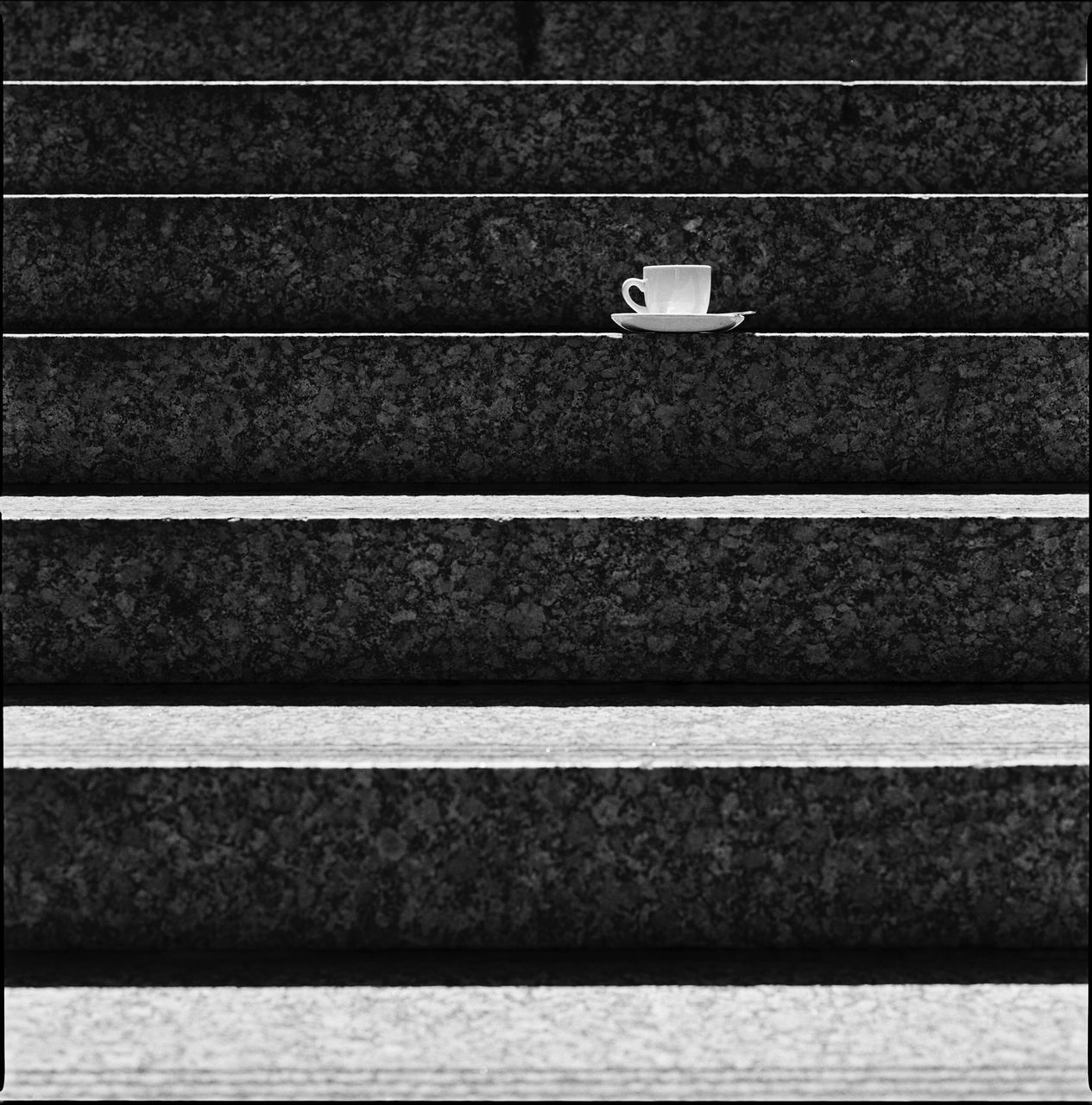 Full frame shot of steps with cup