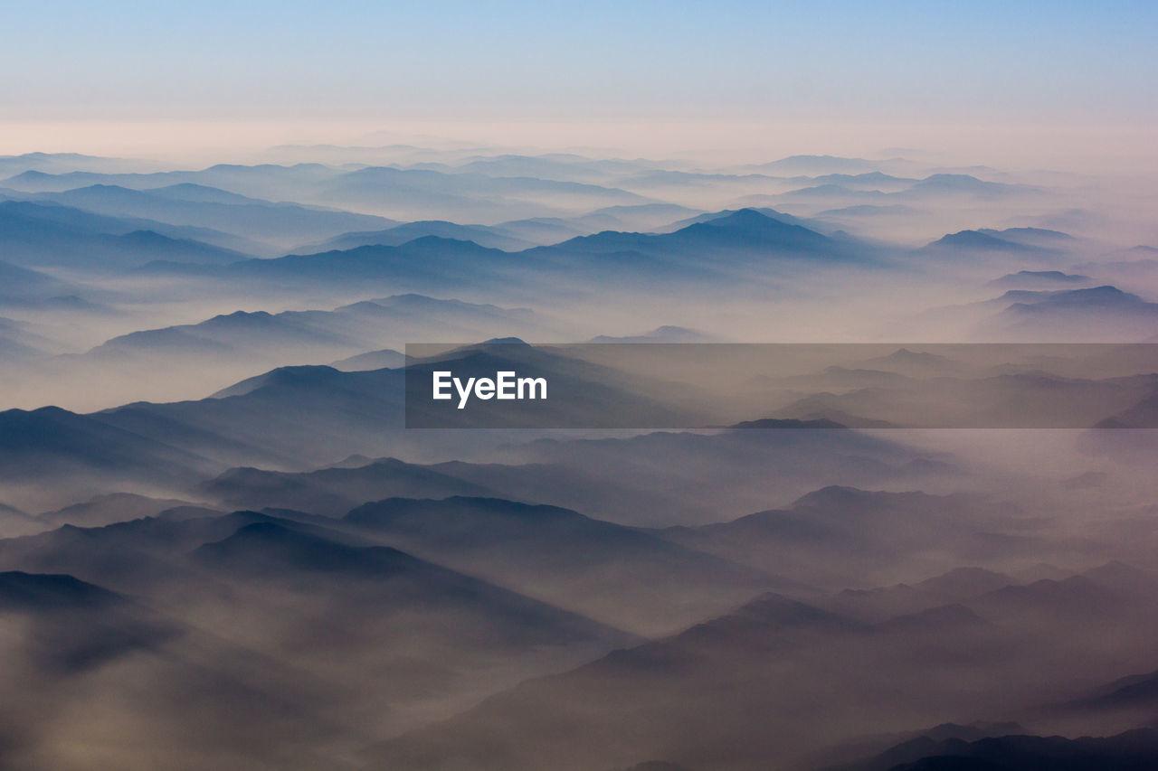 Scenic Shot Of Silhouette Mountain Range