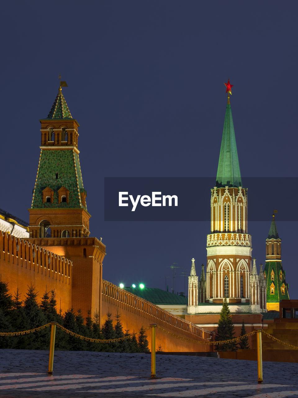 Lenin mausoleum at red square against sky