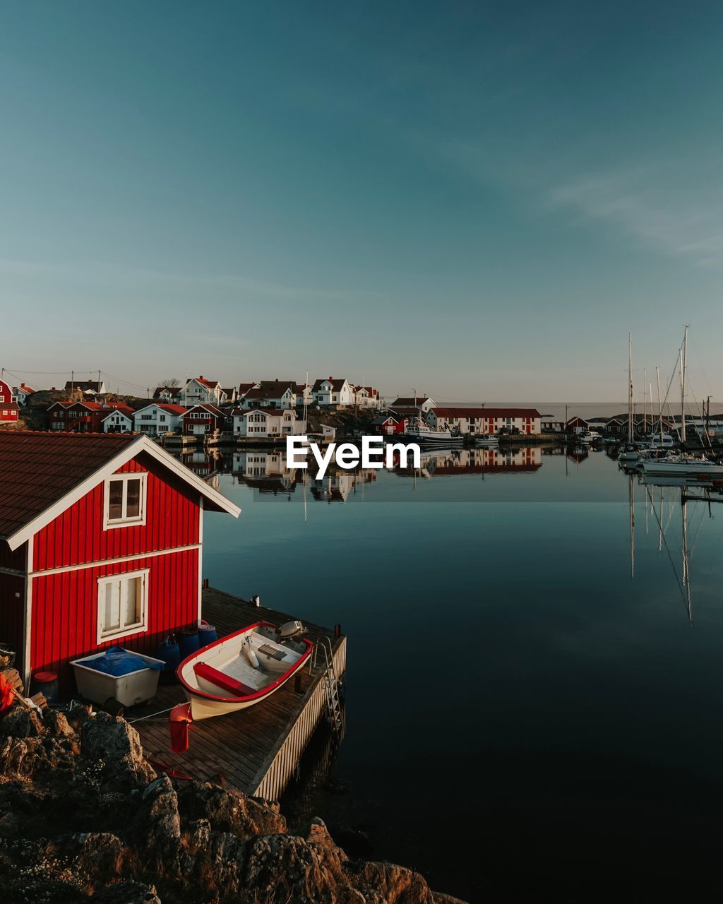 water, architecture, built structure, building exterior, sky, nautical vessel, building, mode of transportation, transportation, city, nature, moored, residential district, no people, house, day, harbor, outdoors, cloud - sky, sailboat, marina, fishing boat