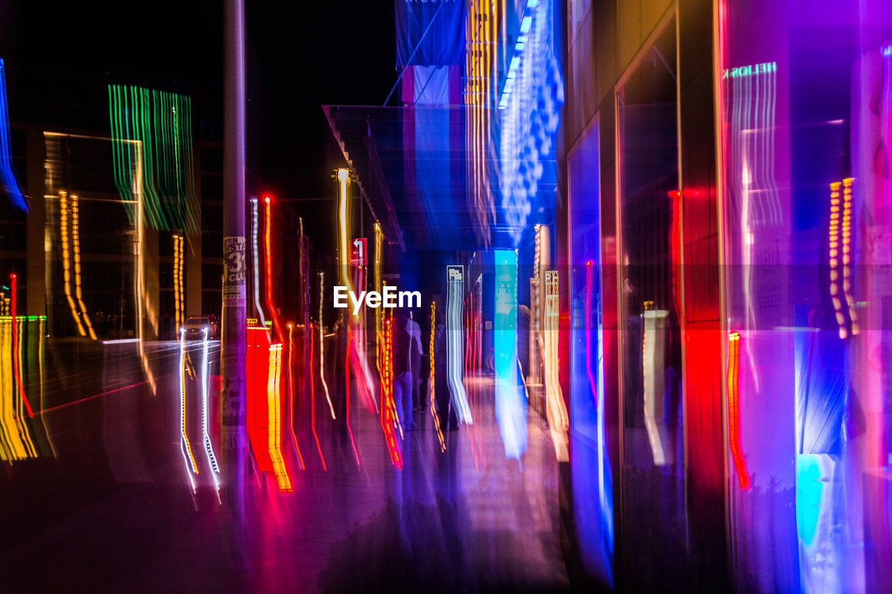 illuminated, night, architecture, building exterior, built structure, multi colored, outdoors, no people, city, neon, close-up