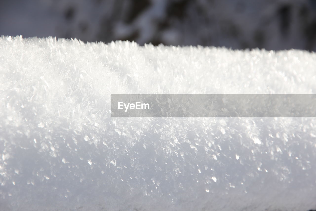 cold temperature, winter, ice, snow, frozen, close-up, weather, nature, white color, frost, no people, ice crystal, icicle, day, snowflake, beauty in nature, outdoors, water, freshness