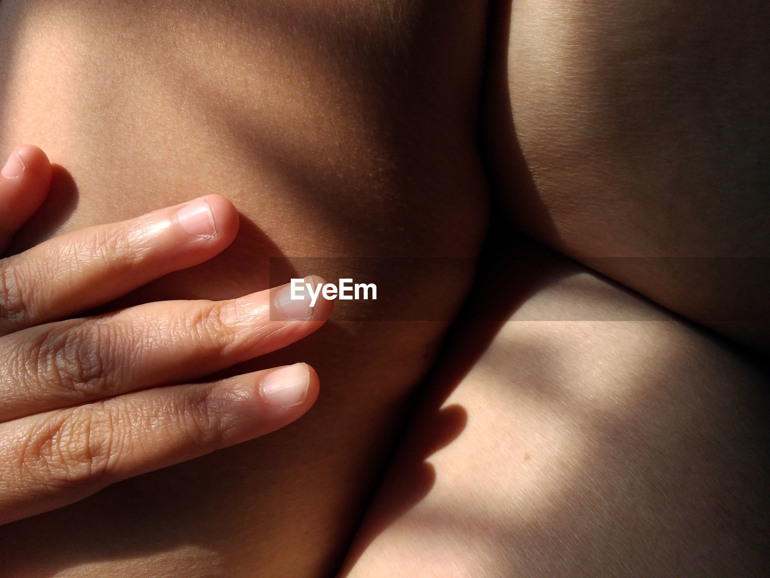 Close-up of human body part