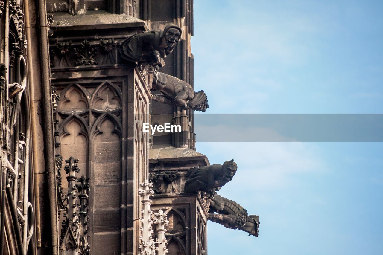 Low angle view of cologne cathedral against sky