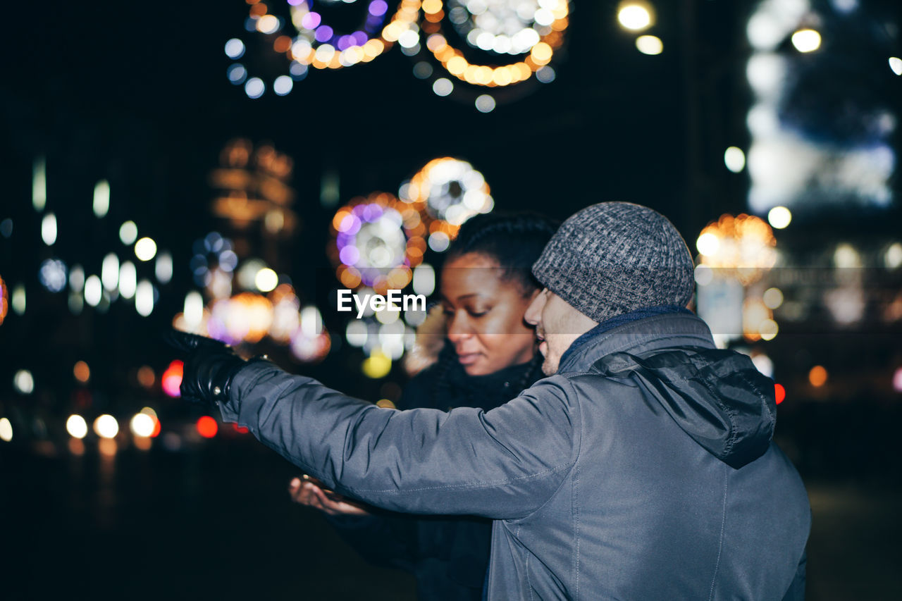 Couple In City At Night