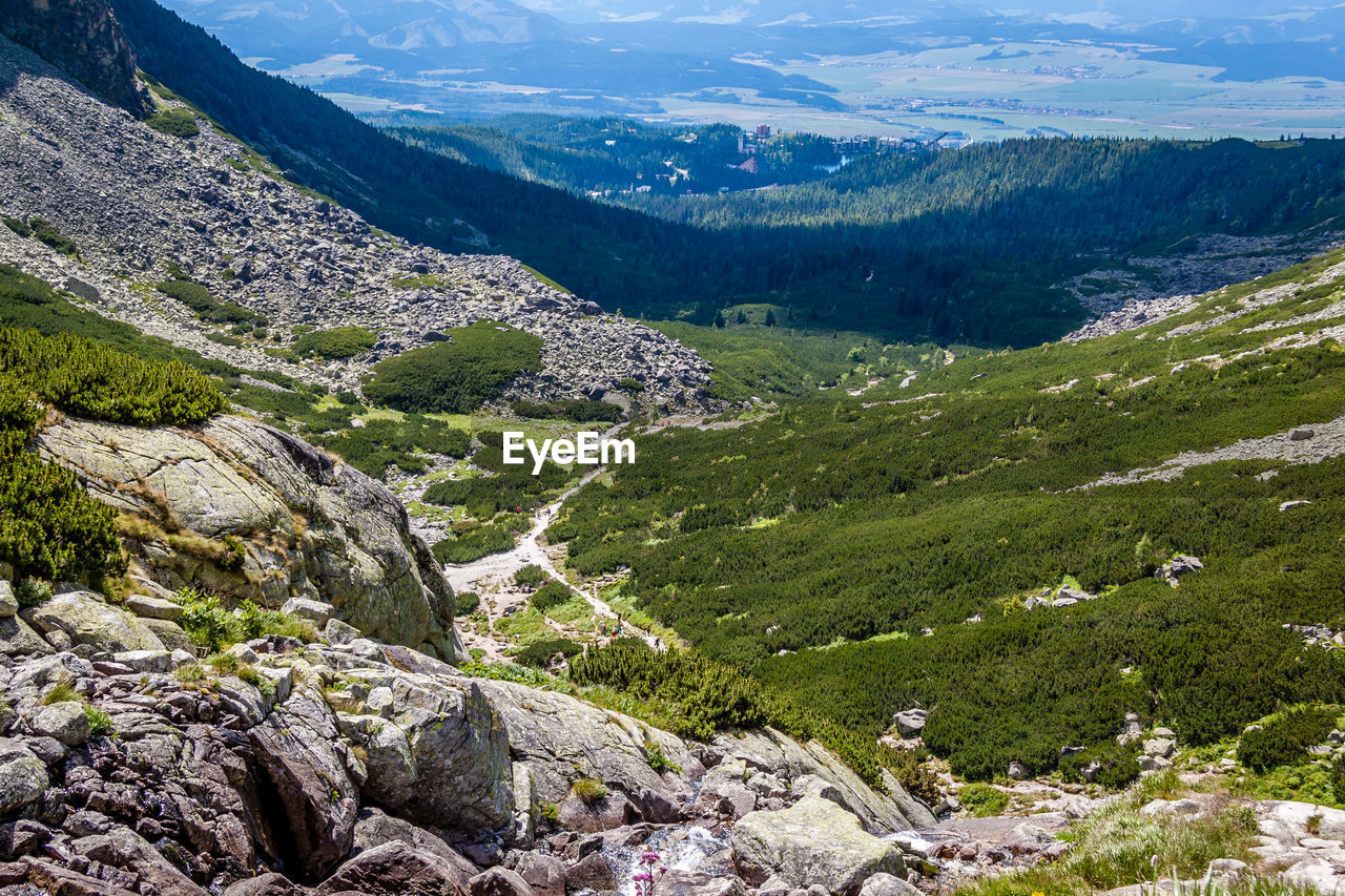 scenics - nature, mountain, beauty in nature, tranquil scene, landscape, environment, tranquility, nature, plant, day, no people, non-urban scene, rock, land, solid, mountain range, tree, green color, rock - object, high angle view, outdoors