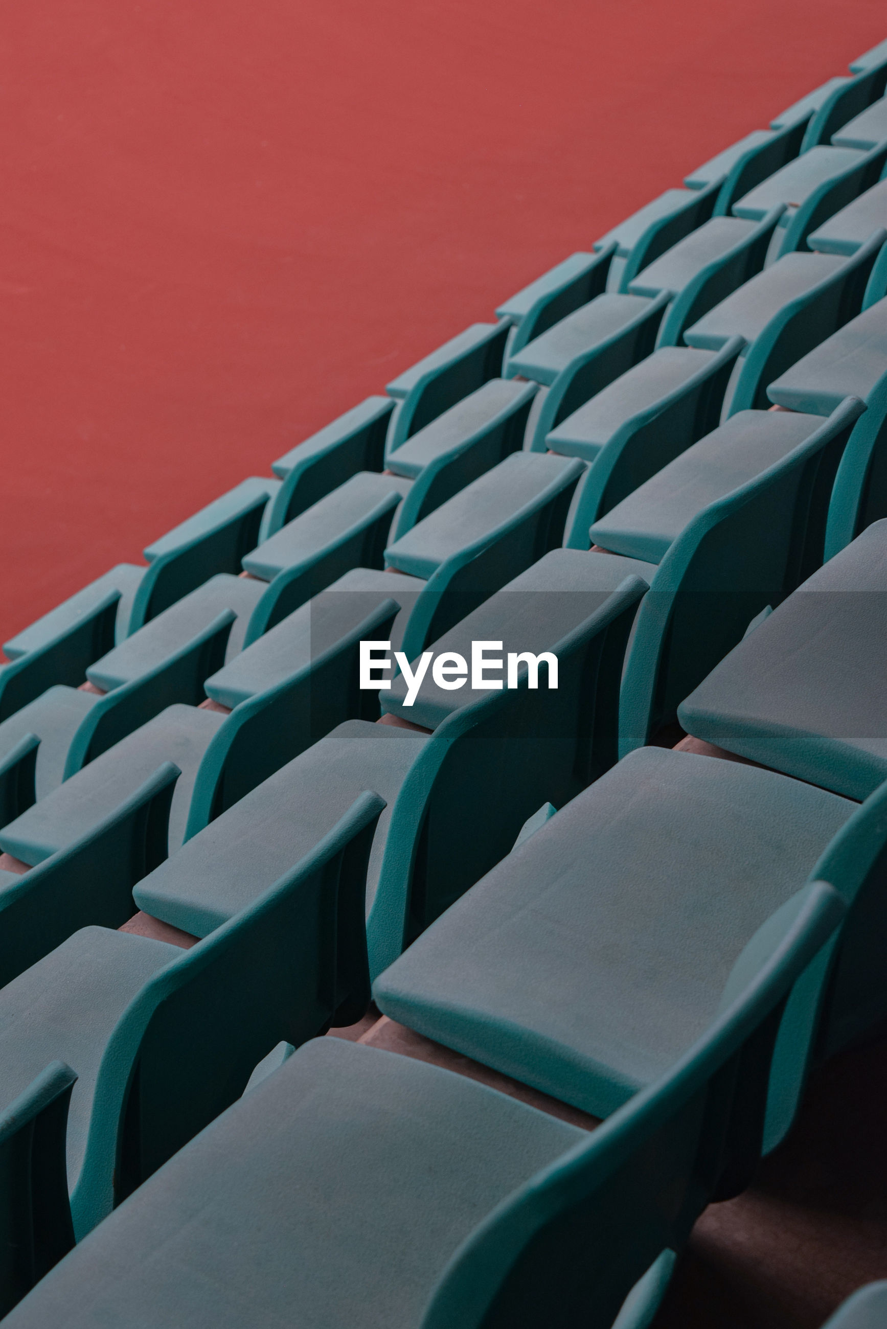 Empty seats in a row