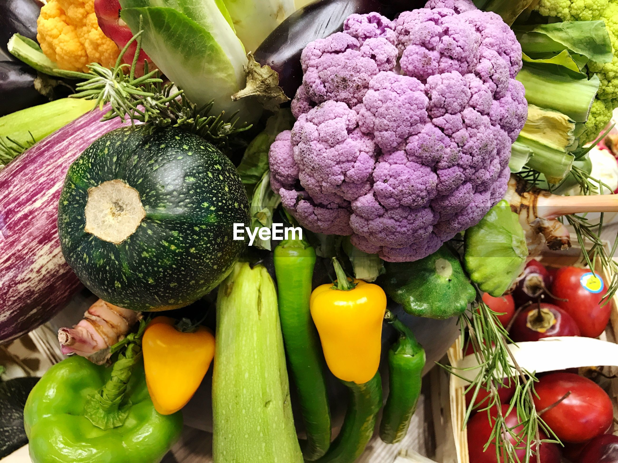Close-up of various vegetables at market