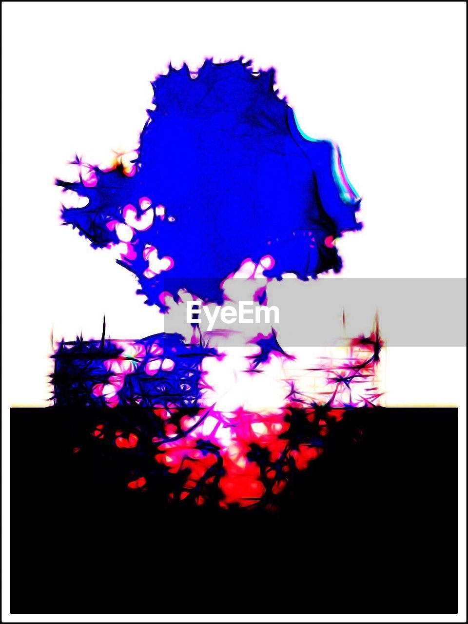 abstract, blue, silhouette, white background, studio shot, paint, multi colored, no people, backgrounds, ink, close-up, fragility
