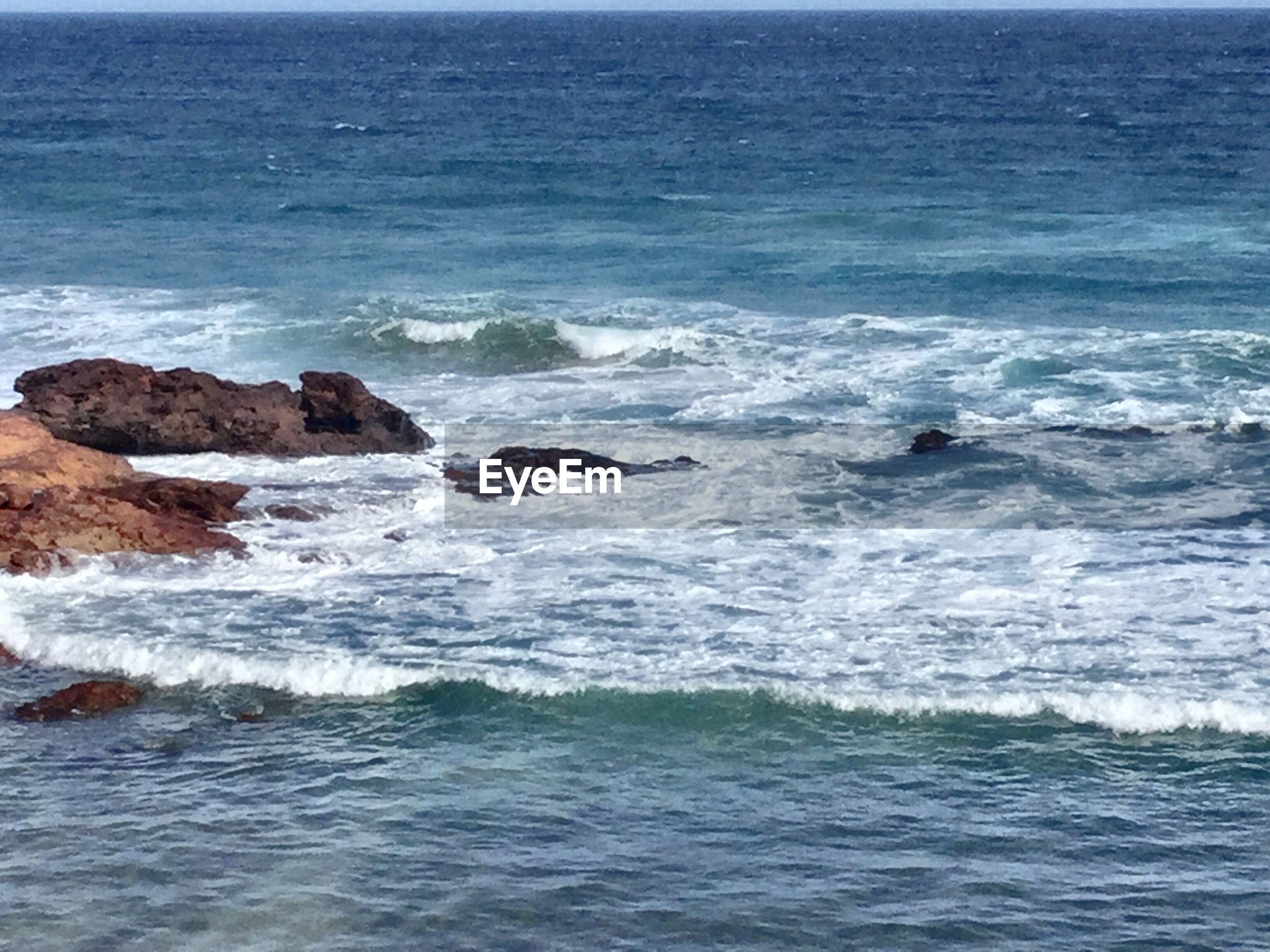 SCENIC VIEW OF SEA AND WAVES