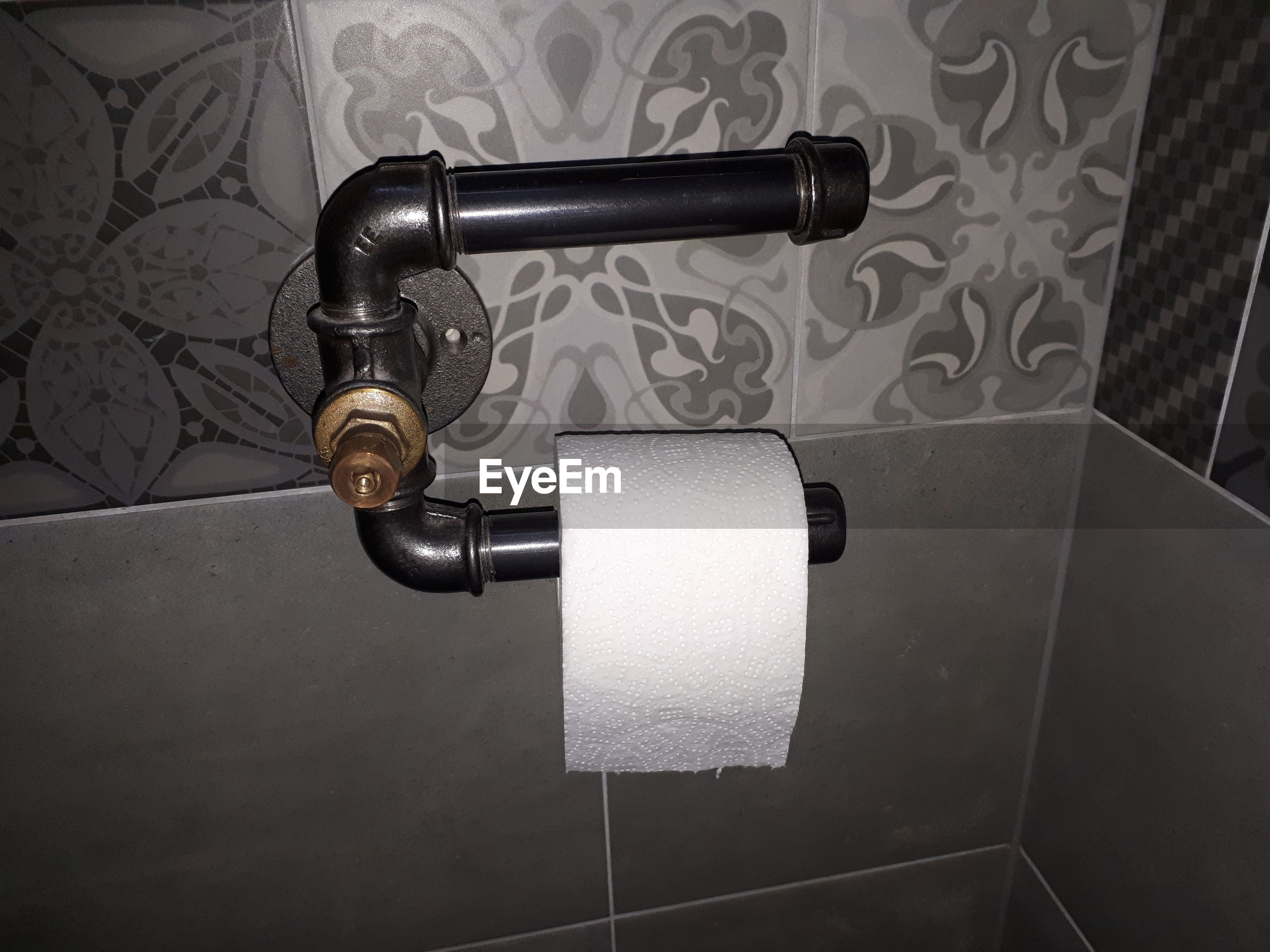 High angle view of toilet paper roll