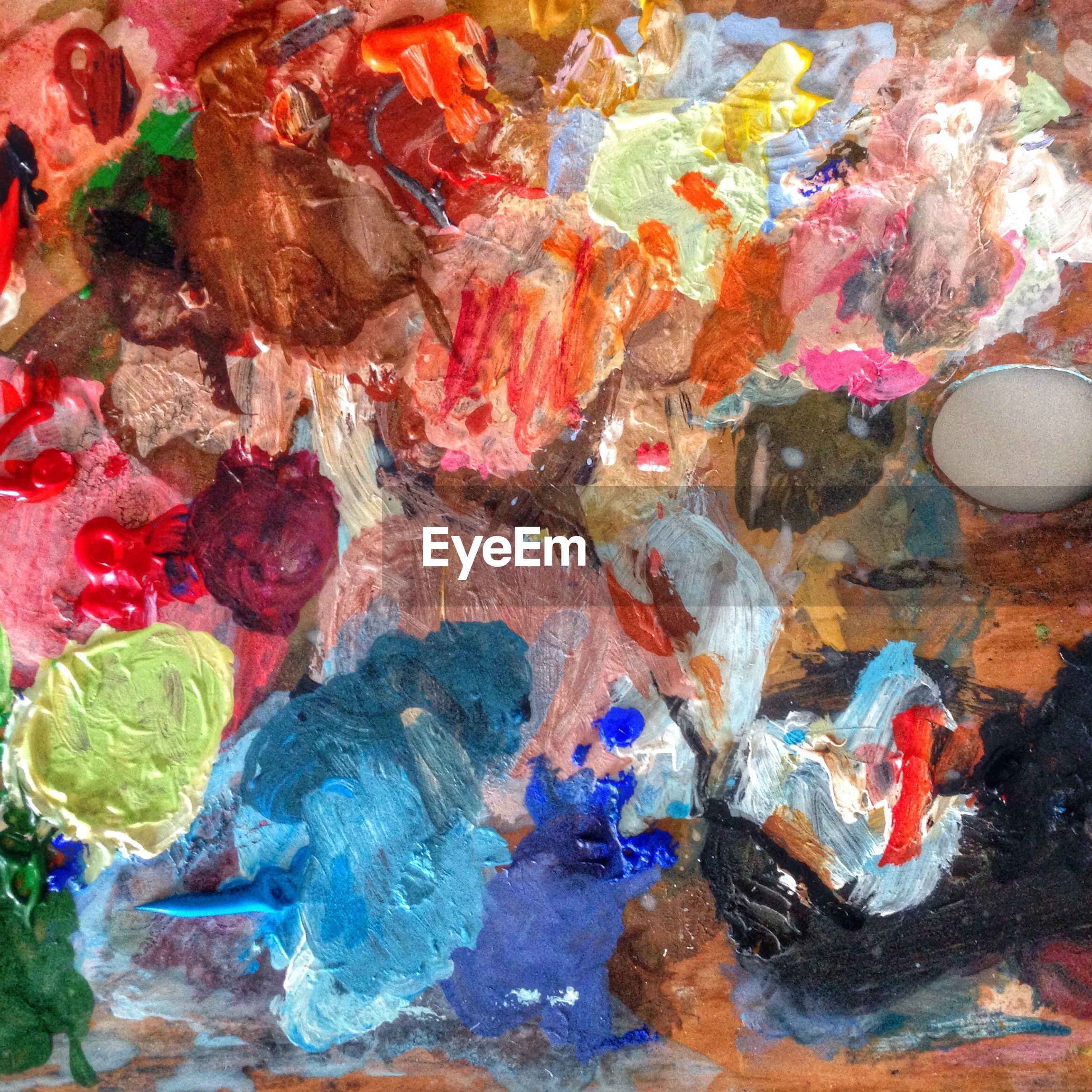Multi colored paints