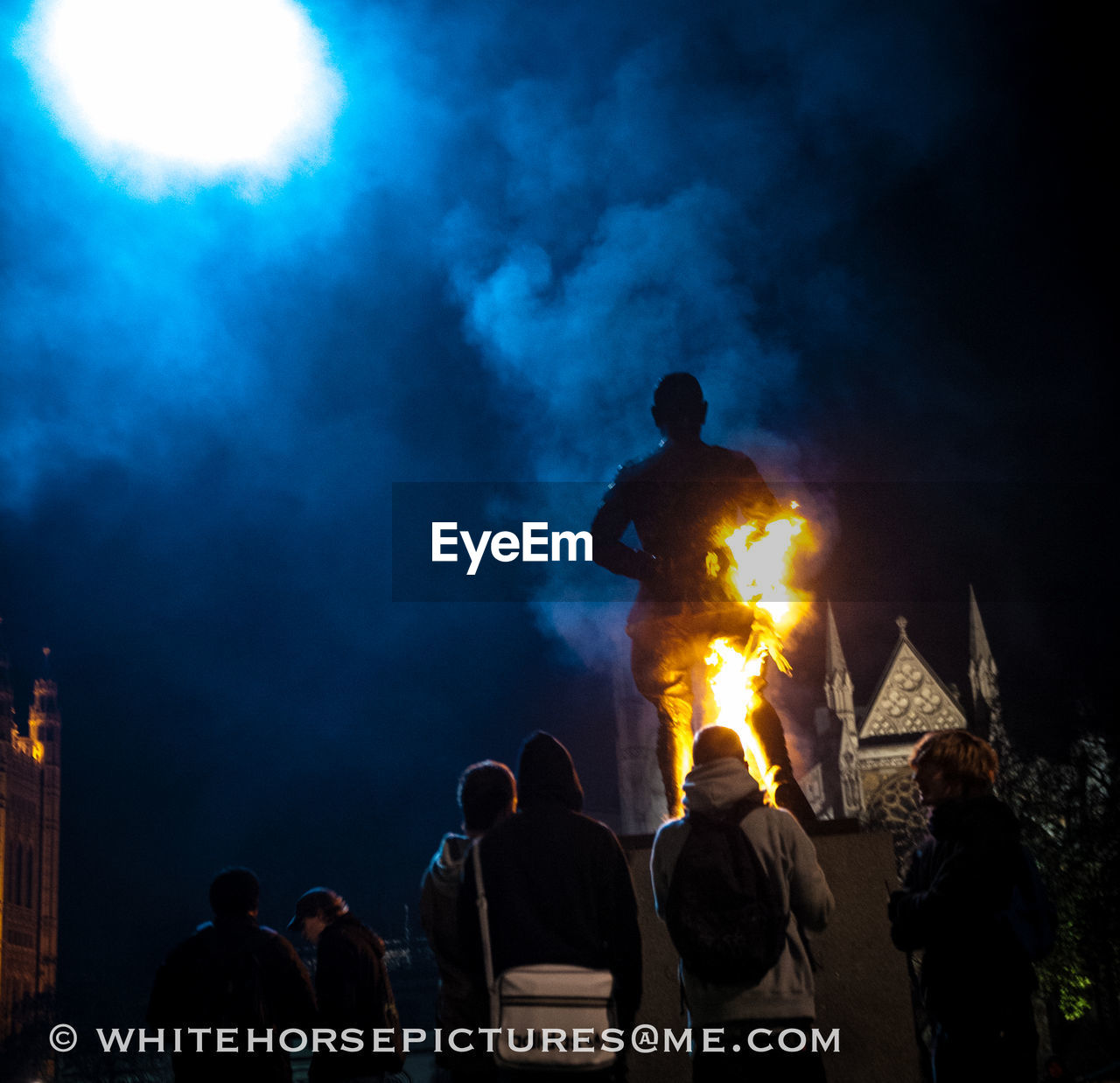 architecture, built structure, real people, sky, building exterior, night, outdoors, men, city, illuminated, women, protestor, people