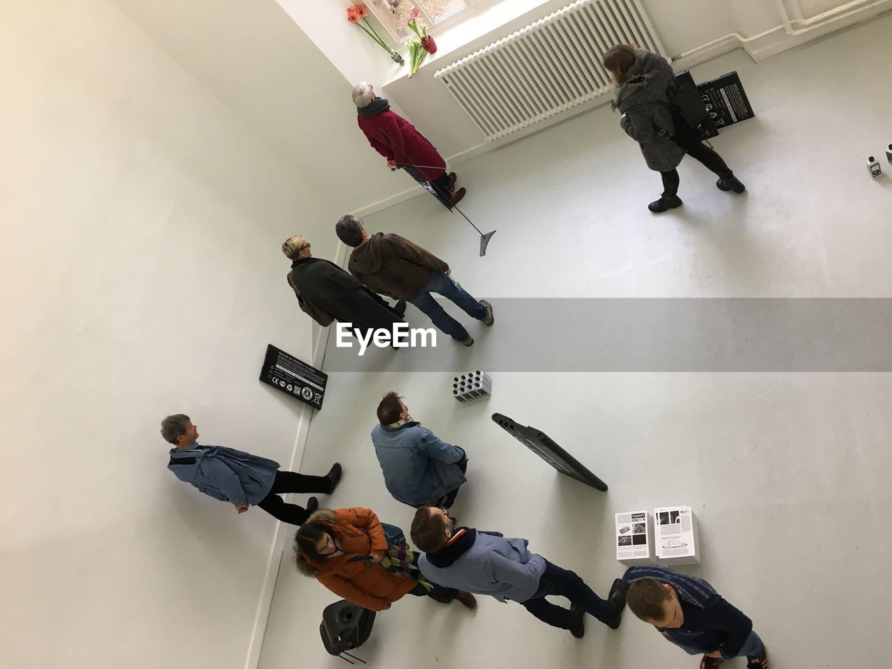 HIGH ANGLE VIEW OF PEOPLE WITH TEXT
