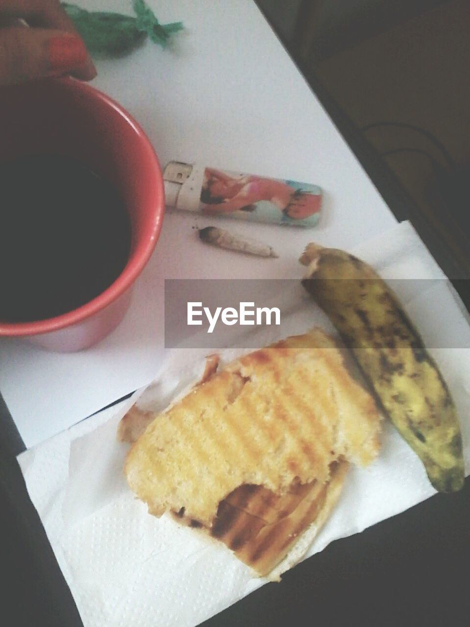 food and drink, food, indoors, plate, freshness, breakfast, ready-to-eat, healthy eating, high angle view, table, serving size, drink, close-up, bread, no people, day
