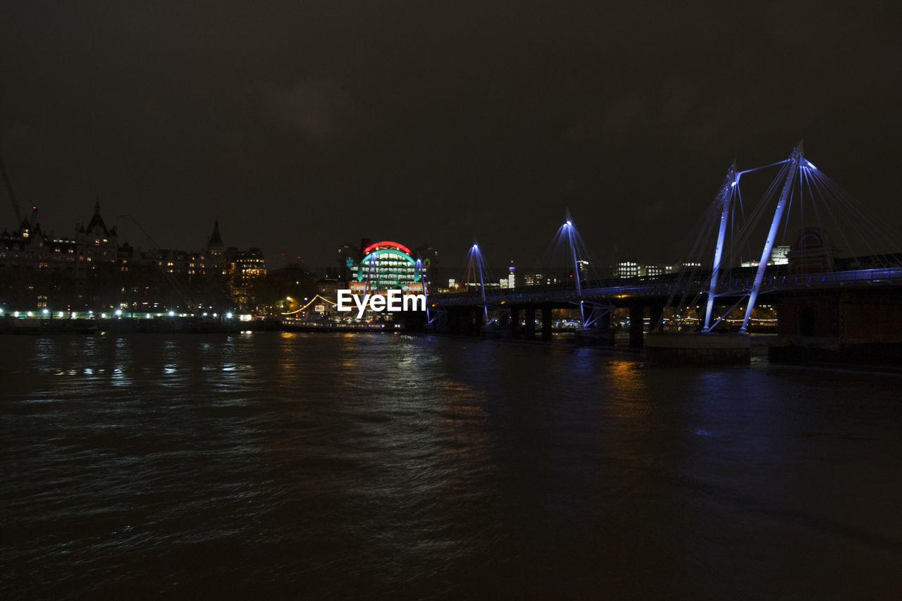 night, water, illuminated, architecture, built structure, sky, city, building exterior, transportation, travel destinations, waterfront, river, no people, bridge, connection, bridge - man made structure, nature, travel, outdoors, cityscape