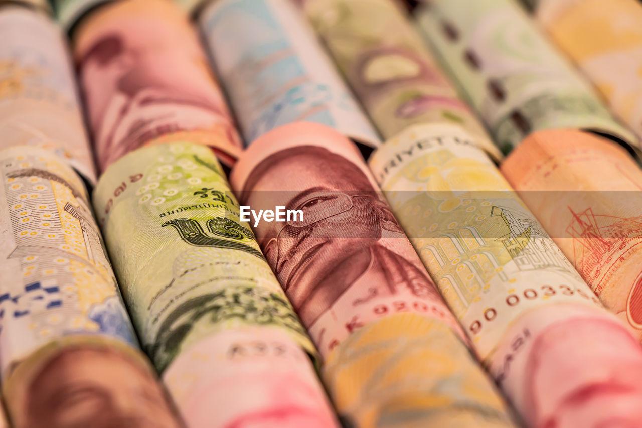 Full frame shot of banknotes
