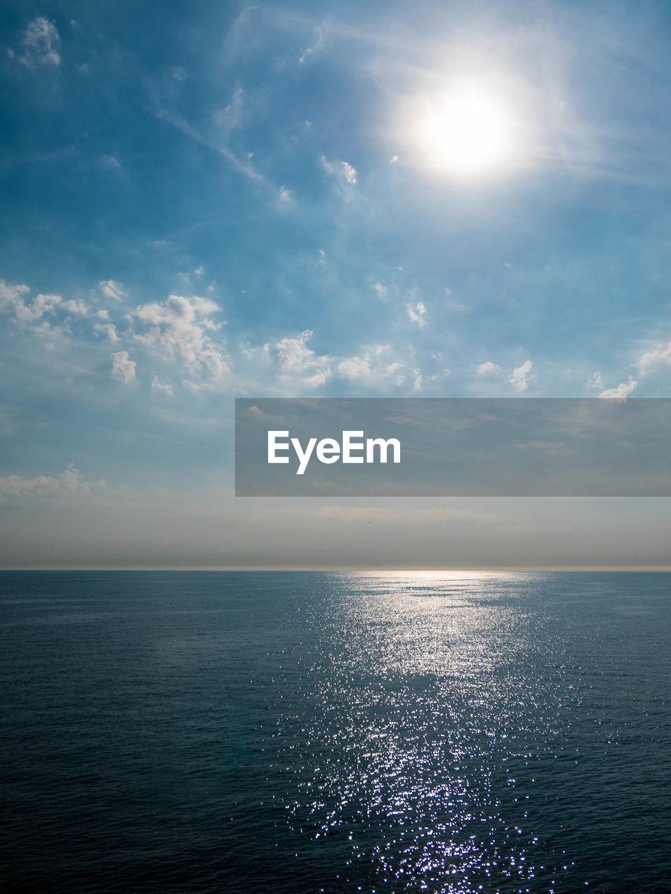 sky, scenics - nature, water, sea, horizon, beauty in nature, horizon over water, tranquility, tranquil scene, cloud - sky, sunlight, nature, sun, idyllic, no people, non-urban scene, waterfront, day, seascape