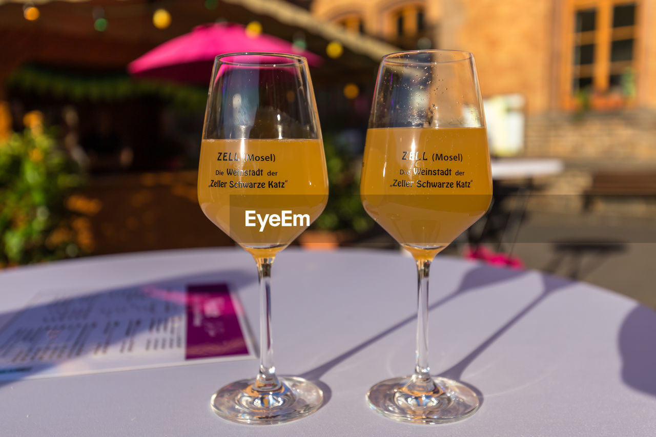 alcohol, drink, refreshment, food and drink, table, glass, focus on foreground, still life, transparent, wine, freshness, close-up, glass - material, wineglass, no people, indoors, restaurant, serving size, business, household equipment