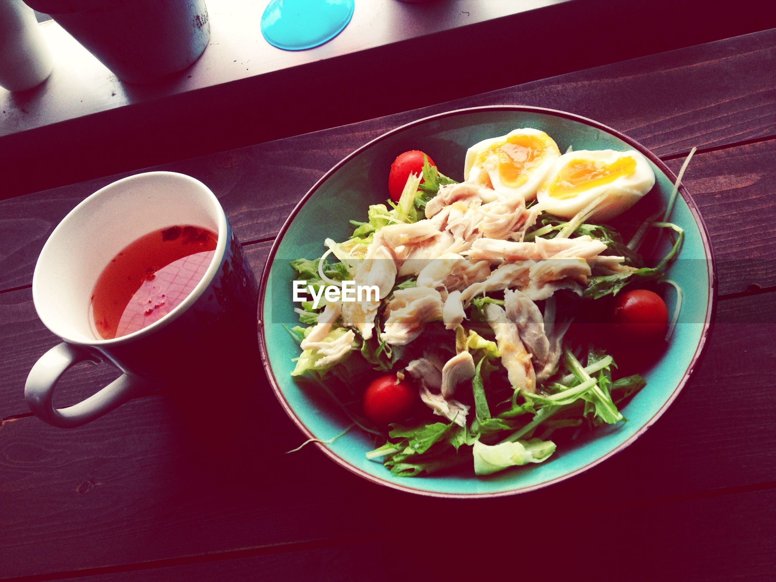 food and drink, food, freshness, indoors, table, ready-to-eat, plate, healthy eating, still life, meal, serving size, bowl, high angle view, served, salad, meat, vegetable, close-up, tomato, healthy lifestyle