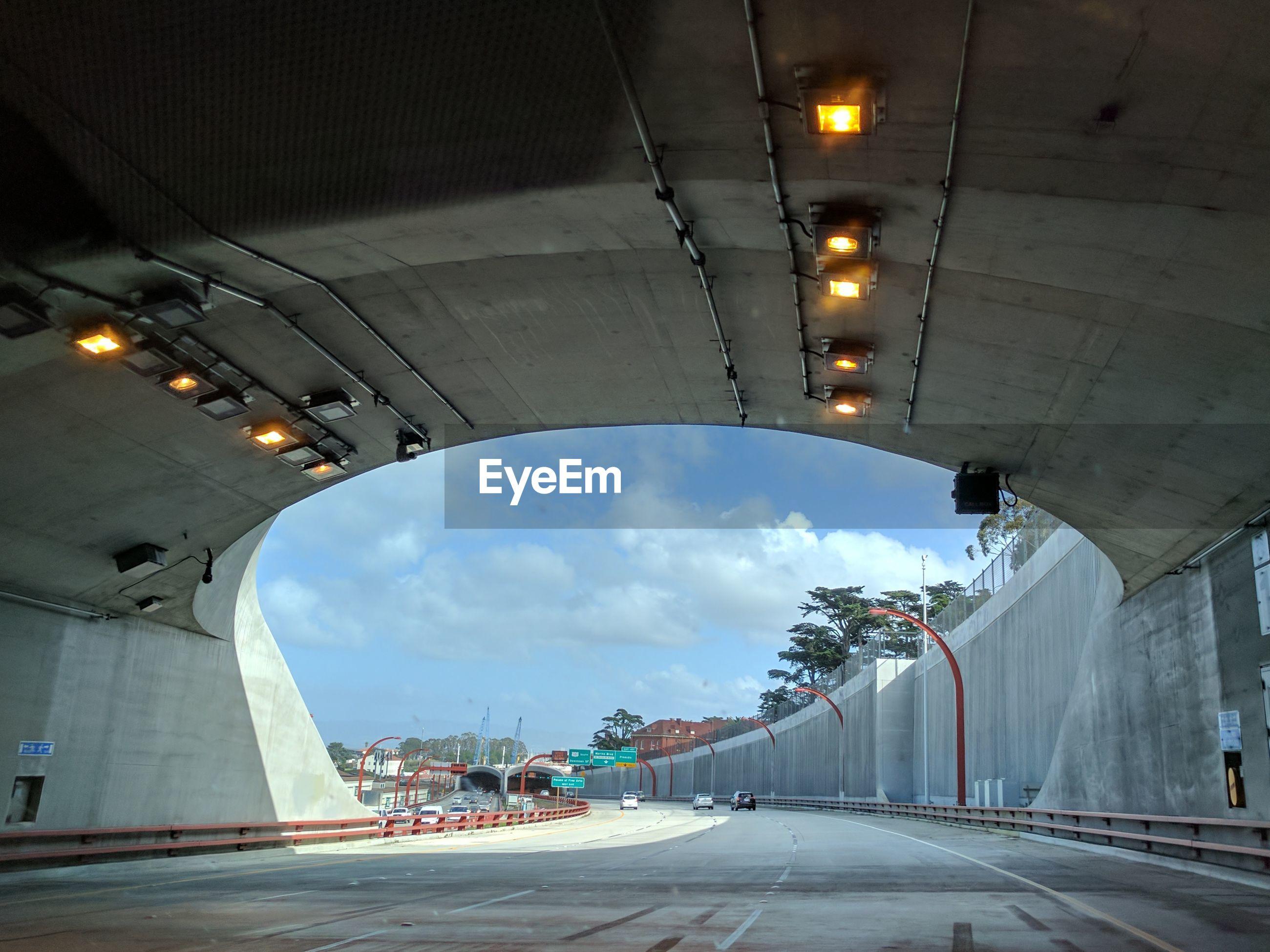 Tunnel against sky