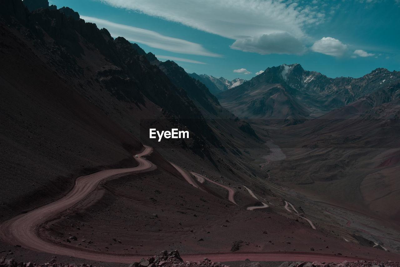 Beautiful mountain view in mendoza argentina