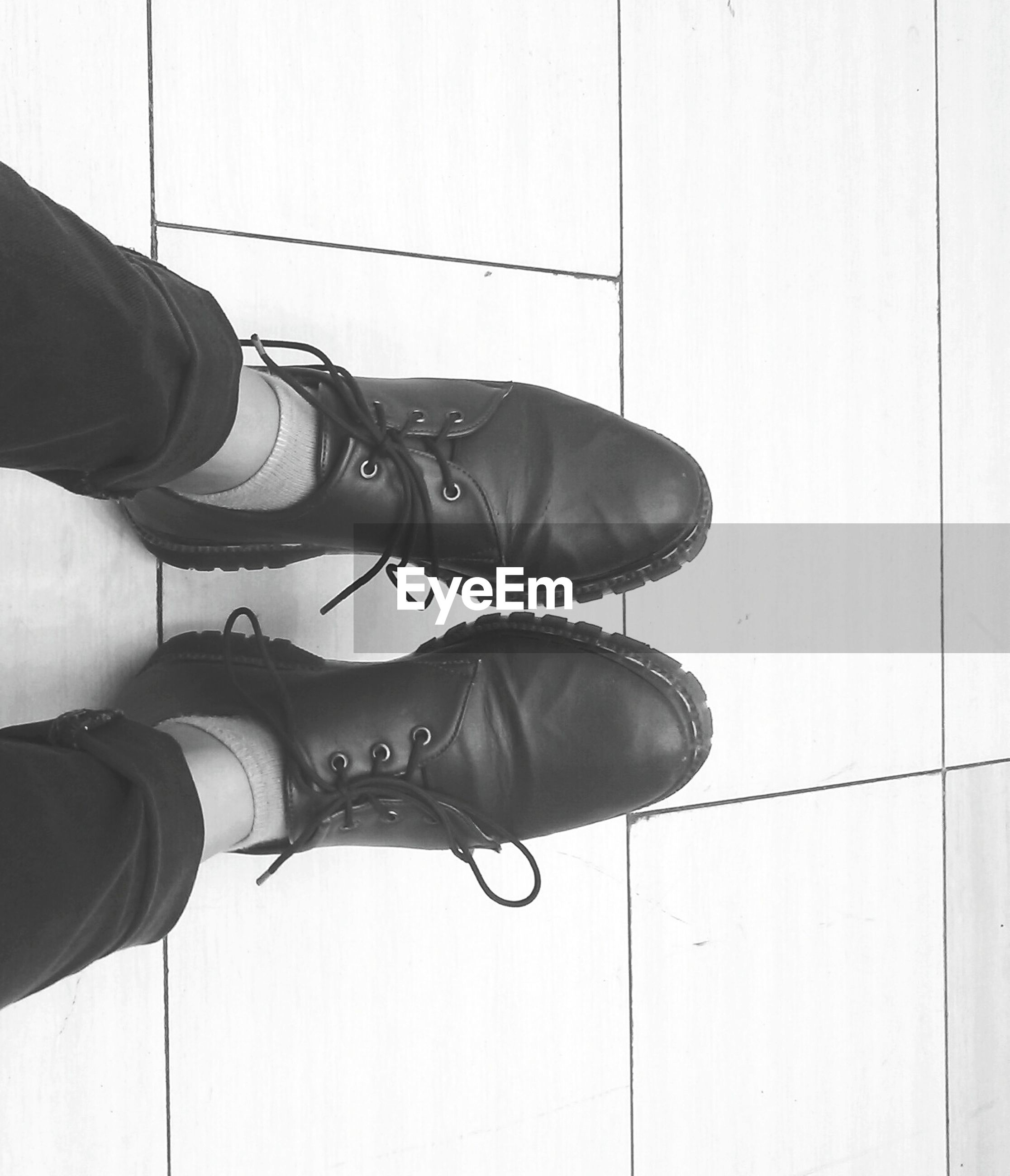 Close up of woman wearing boots
