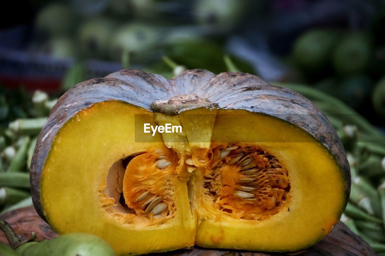 Close-Up Of Pumpkin At Market