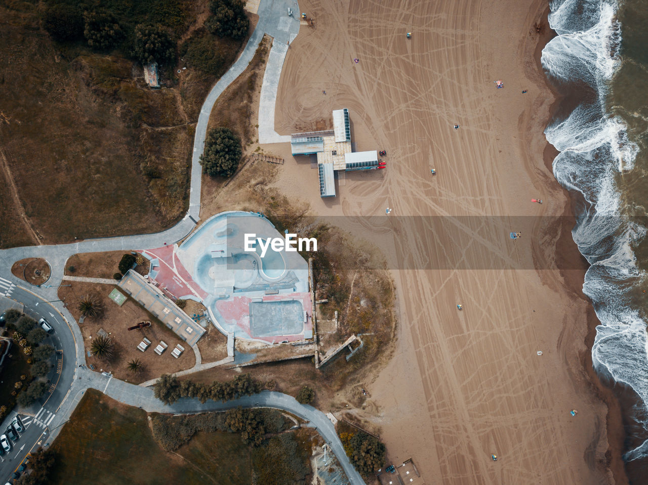 high angle view, water, no people, day, land, nature, transportation, beach, outdoors, aerial view, construction industry, dirt, architecture, mode of transportation, built structure, travel, sand, beauty in nature, construction site