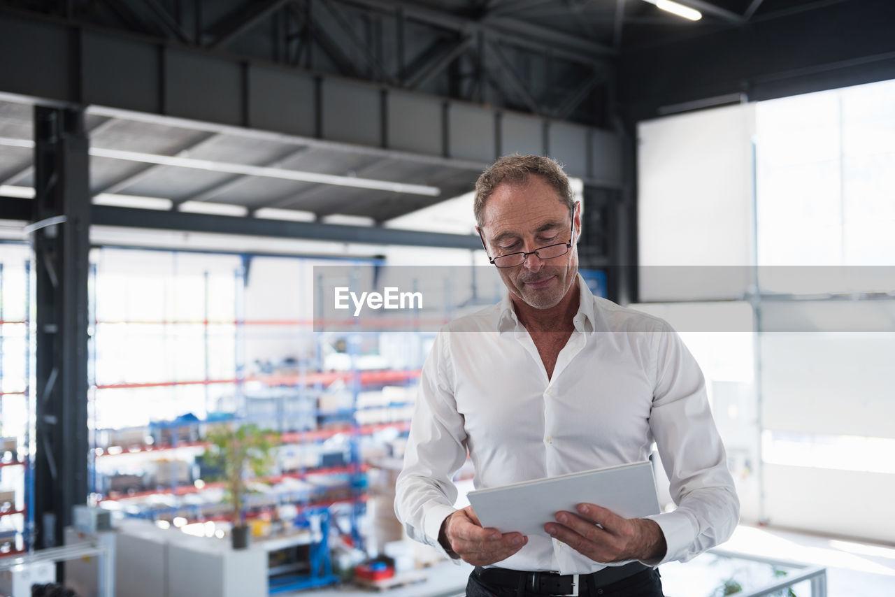 Portrait of man at work