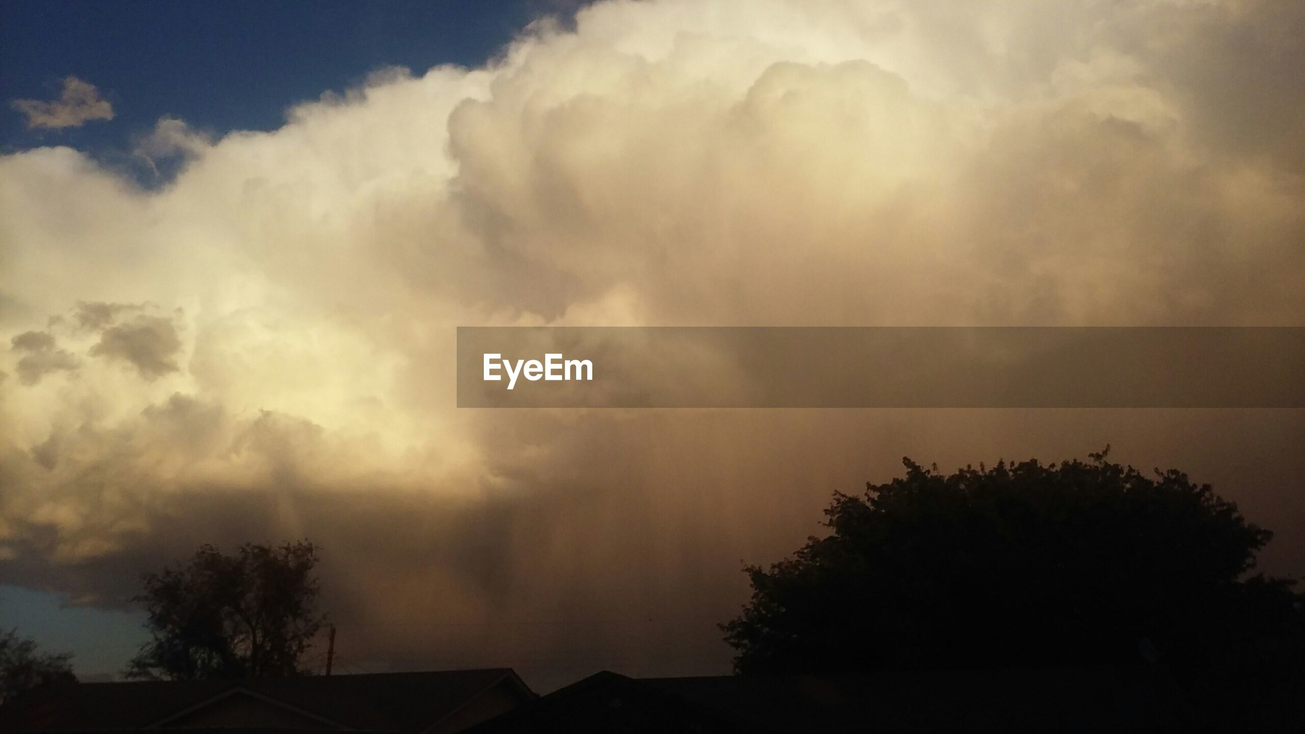 View of storm clouds