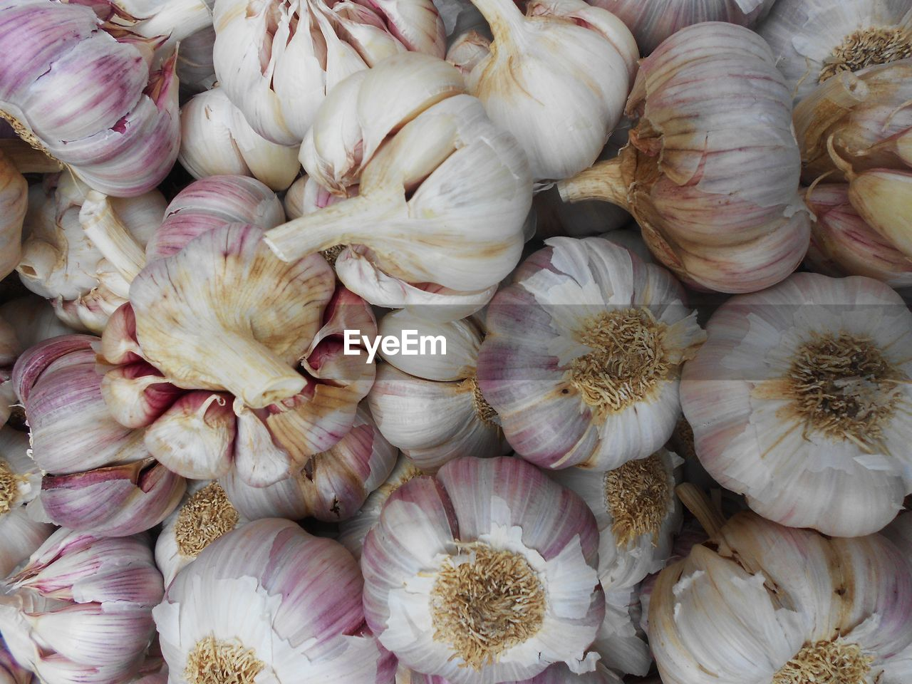 food and drink, freshness, food, full frame, backgrounds, large group of objects, market, wellbeing, garlic, garlic bulb, for sale, still life, ingredient, no people, retail, healthy eating, vegetable, spice, close-up, raw food, retail display, consumerism, garlic clove