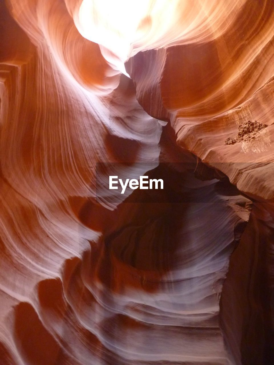 Low angle view of sandstones at antelope canyon