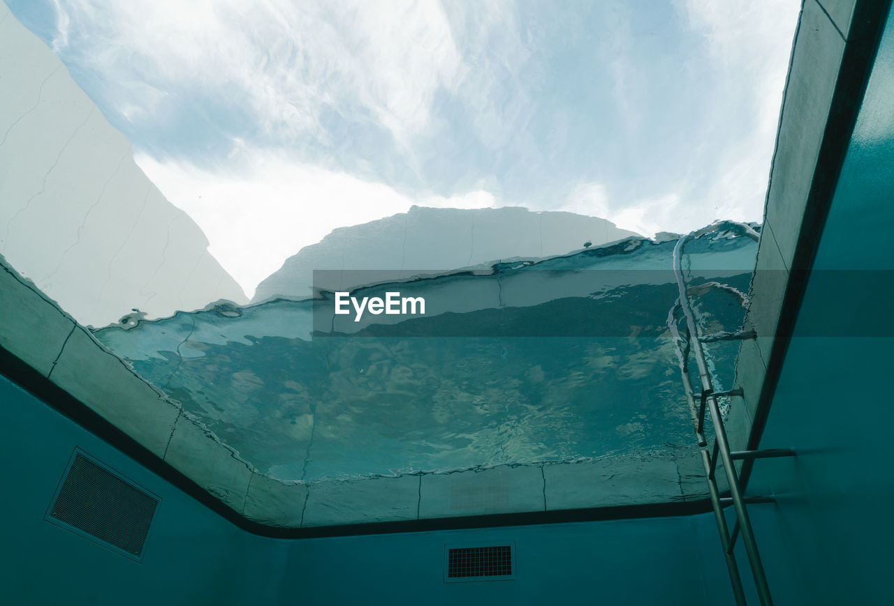 Low Angle View Of Swimming Pool