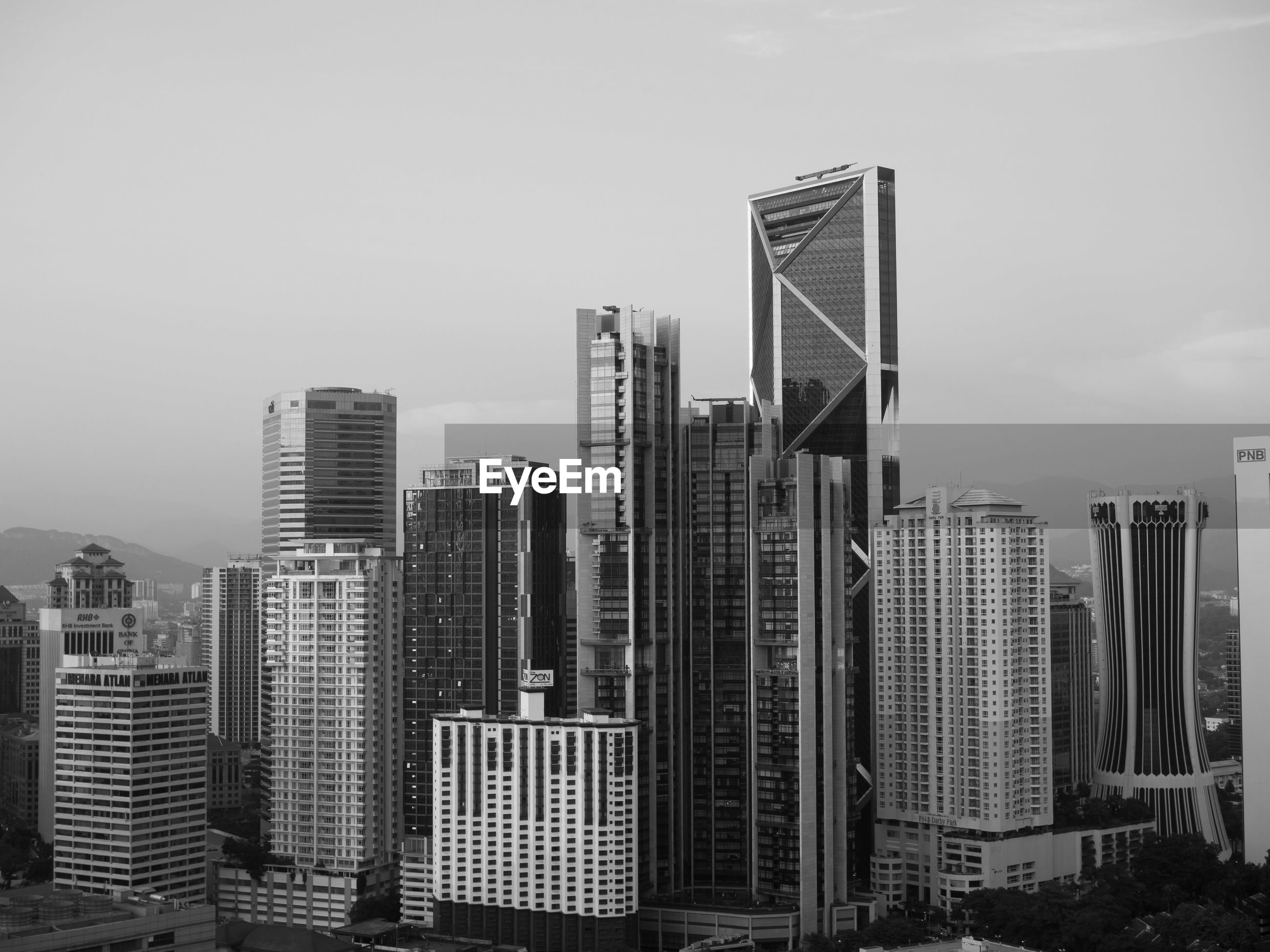 VIEW OF SKYSCRAPERS AGAINST SKY