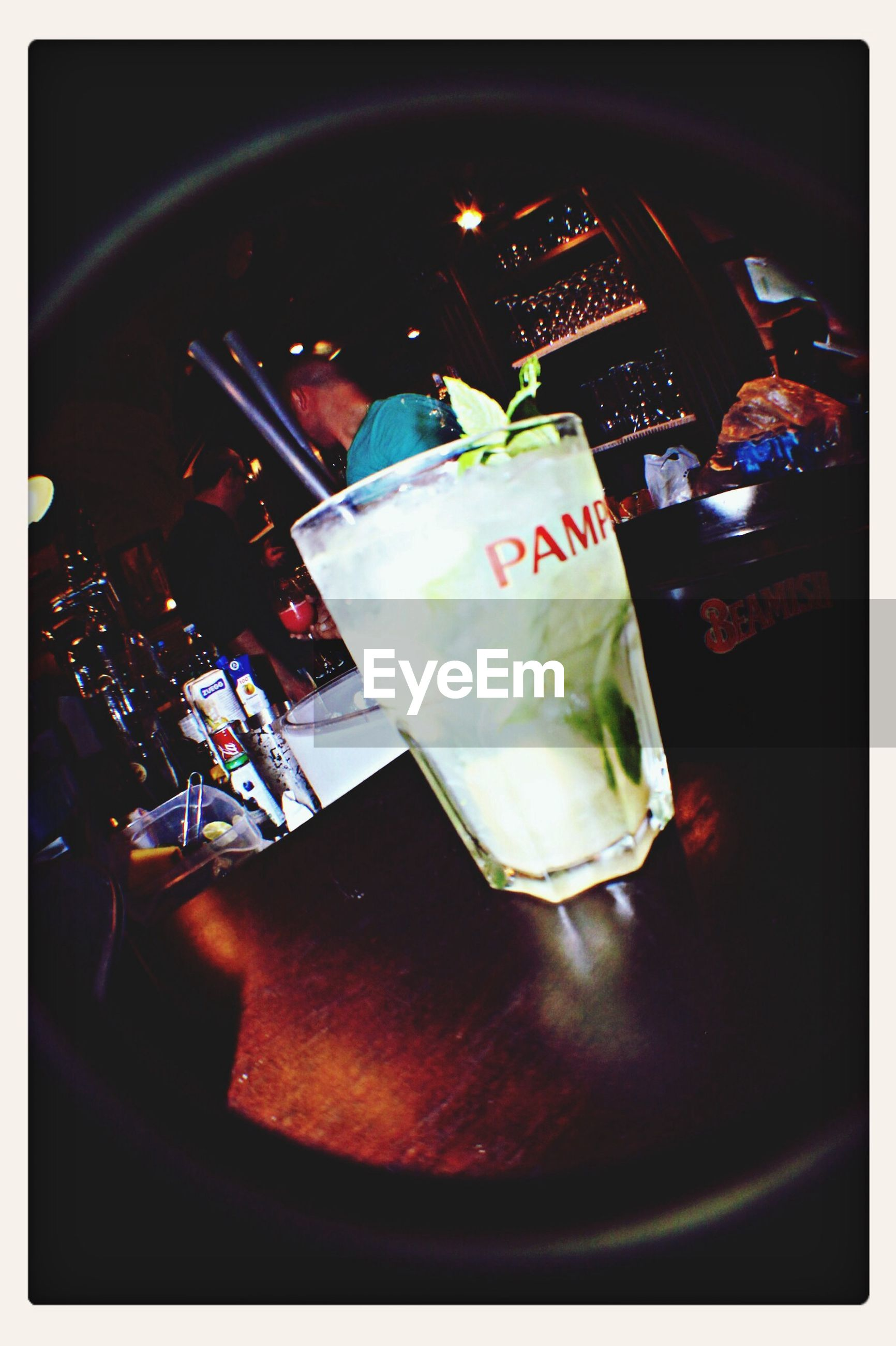 transfer print, indoors, table, auto post production filter, food and drink, still life, glass - material, close-up, drinking glass, high angle view, drink, freshness, no people, glass, refreshment, restaurant, plate, reflection, transparent, text