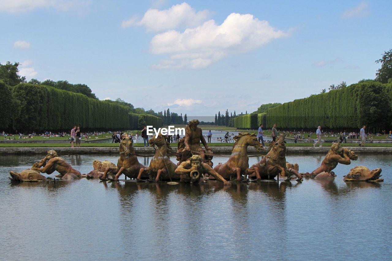 Apollo Fountain At Gardens Of Versailles