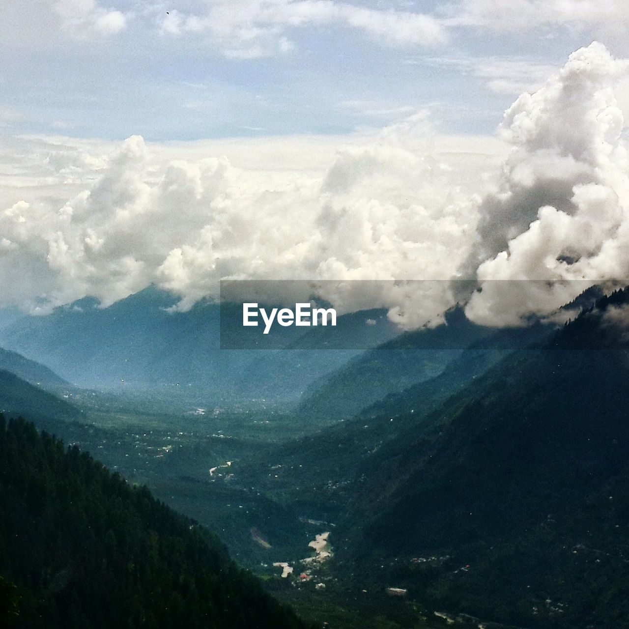 High Angle View Of Valley