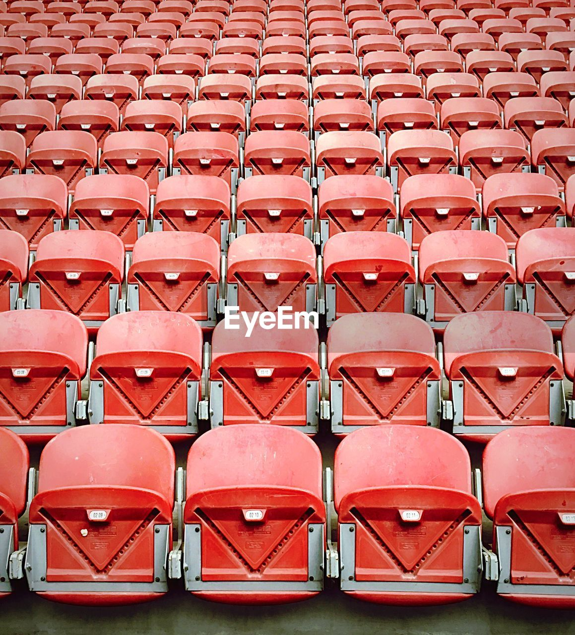 Full Frame Shot Of Red Empty Seats