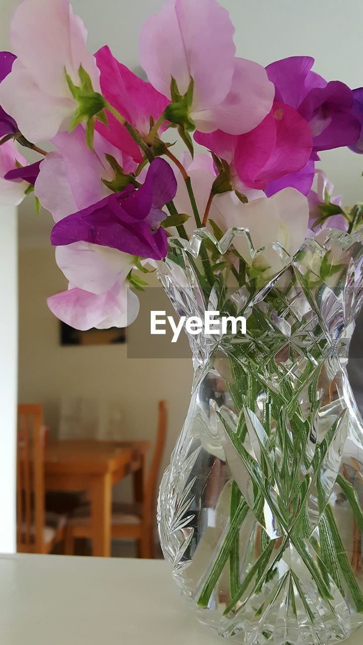 flower, vase, indoors, table, plant, growth, no people, fragility, close-up, nature, flower head, freshness, day, beauty in nature