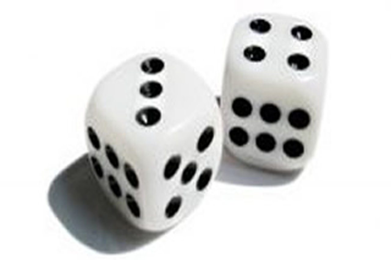 gambling, cut out, dice, luck, white background, white color, chance, leisure games, no people, close-up, day