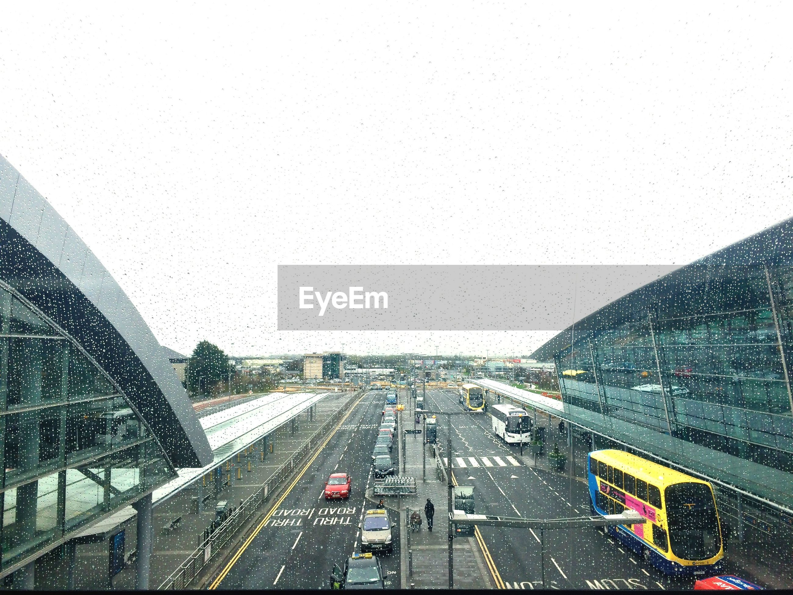 View of traffic from window